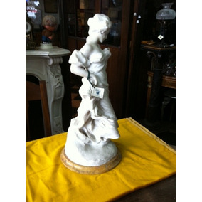 Antigua Figura De Marmol Firmada, Impecable ***