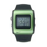 Nike Mettle Lámina Reloj Digital - Negro / Verde - Wc