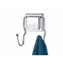 Suporte De Toalha 2 Ganchos Para Banheiro Com Ventosa Em Aço