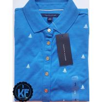 Camisa Polo Desenhos Tommy Hilfiger Original - Feminina