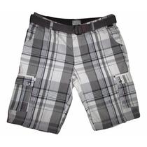 Shorts Bermuda Masculina Com Cinto Tamanhos Grandes