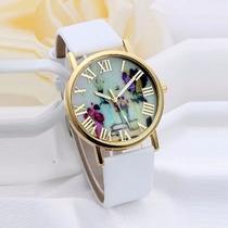 Relógio Feminino Algarismo Romano Dourado Quartzo