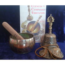 Kit Tibetano. Incluye Campana, Cuenco, Cimbalos Y Manual