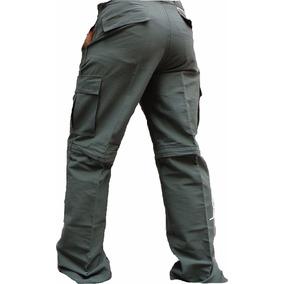 Pantalon Cargo Desmontable Bolsillo Verano Largo Bermuda