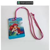 Credenciales Invitacion La Sirenita Princesa Disney Vip Pvc