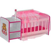 Berço Para Boneca Cristal Brinquedo Infantil Criança Bebê