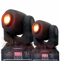 2 Moving Head Spot Led Osram 20w Gobo + Disco De Cor Dmx