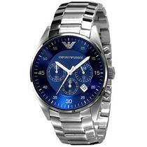 Relógio Emporio Armani Ar5860 Prata E Azul Com Caixa Em 12x.