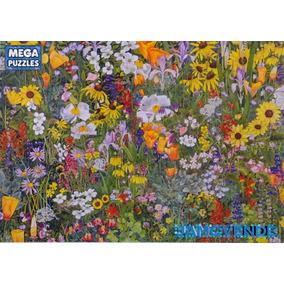 Rompecabezas Tapete De Flores Silvestres Jardín Dibujo 750