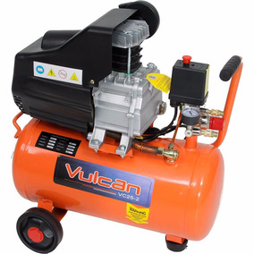 Compressor Ar 2.5hp 8,7pés Vulcan 110v Kit14 Pç+pistola Mini