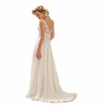 Vestido De Noiva Evasê Cintura Alta Plus Size