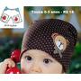 Touca Para Bebê Inverno Gorro Infantil Urso Criança
