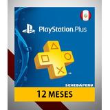 Membresía Playstation Plus 1 Año 12 Meses Peru Ps4 - Scheda