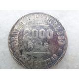 Moeda Brasileira Antiga 2000 Reis 1911 Prata 900 Conservada