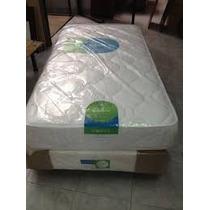 Colchon Topacio Simetric 190x80x25 Resortes Envio S/c Caba