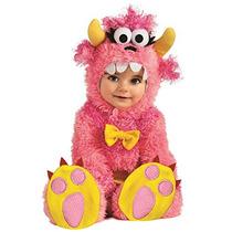 Disfraz De Mounstruo Para Bebes Talla 6-12 Meses - Rosado