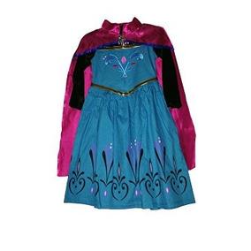 Disfraz Niño Traje Clásico Princesa Elsa Vestido Y Capa (6/