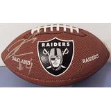 Bola Wilson Oakland Raiders Autografada 3 Jogadores