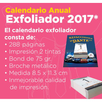 Calendario Exfoliador 2017 Con Base Plastificada