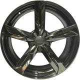 Roda Réplica Audi Q5 5x100 Aro 19 Cromo Black Tala 8
