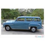 Chrysler Plymouth Utility Placa Preta 1951 Dodge