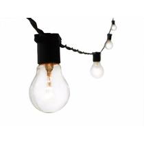 Varal De Lampadas - Luzes Cordão Iluminação 15m Preto