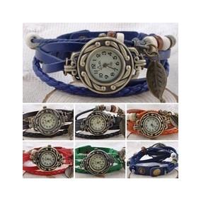 Relojes De Pulsera Cuero Moda, Dama Al Menor Y Mayor