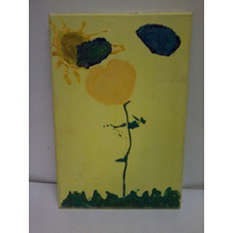Tela Ost Pintura Flor Paisagem - Sem Assinatura