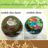 Pirotines Dinosaurios Cupcake Deco Temática Dinos Cumple