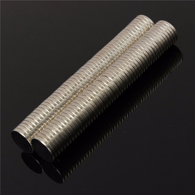 5 Peças Imã Neodímio Super Forte N50 Pastilha 10mm X1,5mm