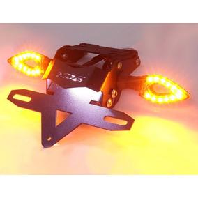 Suporte Placa Rabeta Eliminador Iluminação Piscas Led Xj6