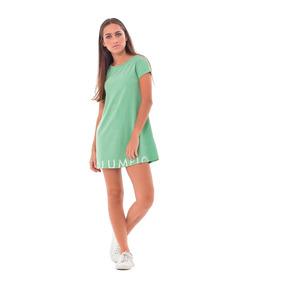 Vestidos Casuales Picao Verde Columpio