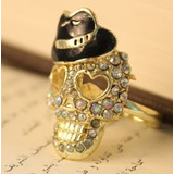 Anillo Color Bronce Calavera