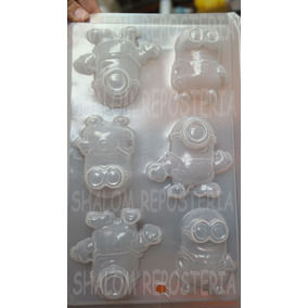 *molde Mediano Gelatinas Gomitas 6 Minion Varios Chocolate*