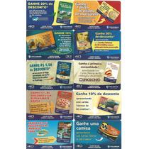 Lote Cartão De Telefone Usados-são 10 Tarjinhas Difíceis