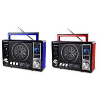 Bocina Usb Sd Aux Stereo Radio Am/fm Recargable Bluetooth