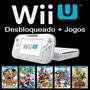 Nintendo Wii U Desbloqueado + 60 Jogos De Wiiu + Hd 500gb