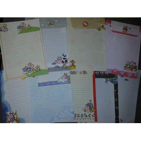 Lote C/9 Conjuntos De Papéis De Carta Vaquinhas Shinn Jee