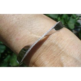 Vivara Pulseira Bracelete 19 Gr Ouro Branco Diamantes