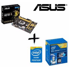 Kit Proc Pentium G3260 + Placa Mãe Asus H81m-a Lga1150