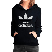 Moletom Adidas Feminino Casaco Canguru Blusa De Frio Moleton