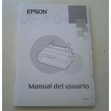 Manual Del Usuario Epson Lx-300+ Excelente Estado Temperley