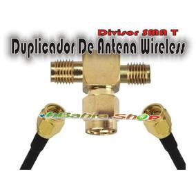 Divisor Sma T Duplicador Para 2 Antenas Wifi Splitter