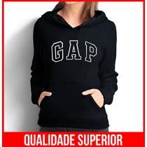 Moletom Gap Feminino Casaco Canguru Blusa De Frio Moleton