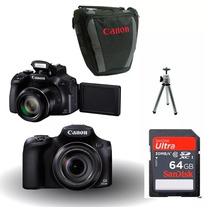 Câmera Canon Sx60 Hs+bolsa+ 64gb C10+tripe+kit Limpeza!!
