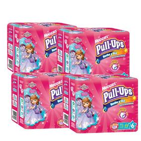 Caja De Pull Ups Noche Y Día E6 Niña Paq. 25 - 100 Pañales