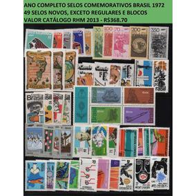 1972 C-721 A 772 Ano Completo Apenas Selos Comemorativos