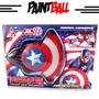Juguete Pistola Capitán América Paintball