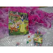 12 Invitacion Blanca Nieves Para Colorear Incluye 4 Crayolas