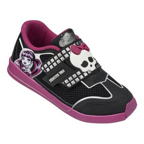 20%off Tênis Monster High Star Preto Com Rosa - 21274